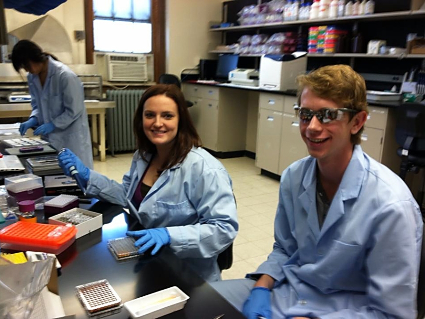 Hard at work in the Rutgers Lab